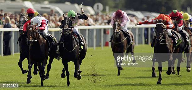 John Egan and Mudawin storm home to land The totesport Ebor Race run at York Racecourse on August 23 2006 in York England