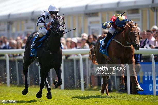 John Egan riding Yogi's Girl win The Stellar Group Lily Agnes Conditions Stakes at Chester Racecourse on May 10 2017 in Chester England
