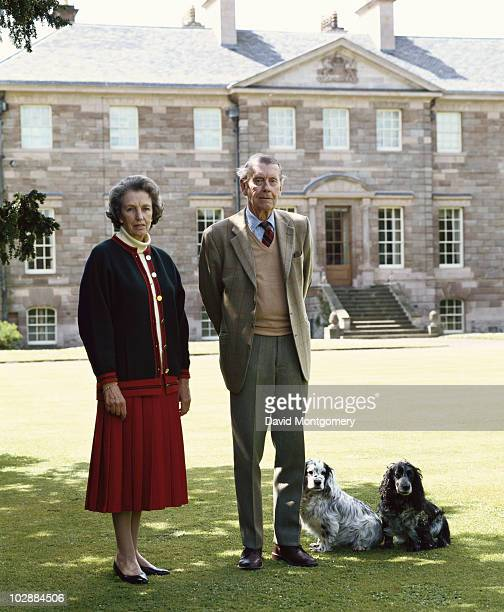 John Egerton 6th Duke of Sutherland with his second wife Evelyn the Duchess of Sutherland circa 1990