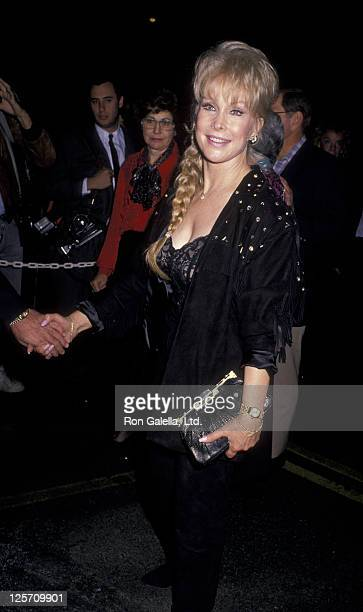 John Eicholtz and actress Barbara Eden attend Big Sisters Benefit Gala Honoring Goldie Hawn on December 9 1989 at the Hollywood Palladium in...