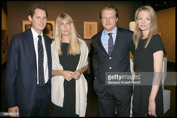 John Eklann his wife Alessandro Vallarino Gancia and his wife Delphine Arnault at Private Viewing Of The Exhibition Picasso Et Les Maitres At Grand...