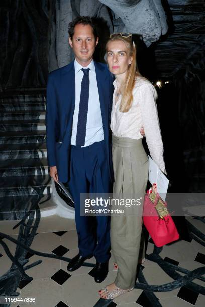 John Elkann and his wife Lavinia Borromeo attend the Christian Dior Haute Couture Fall/Winter 2019 2020 show as part of Paris Fashion Week on July 01...