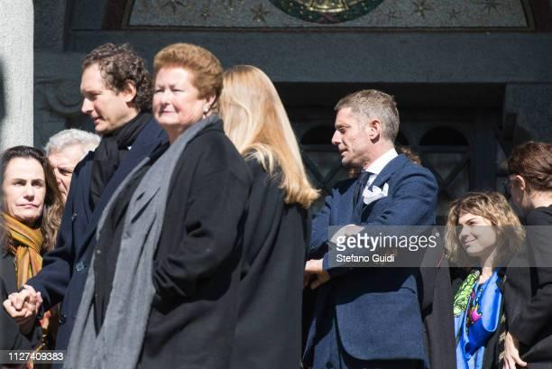 John Elkann and Lapo Elkann during the funeral of Marella Agnelli Caracciolo of Castagneto at the Church of San Pietro in Vincoli Marella Agnelli...