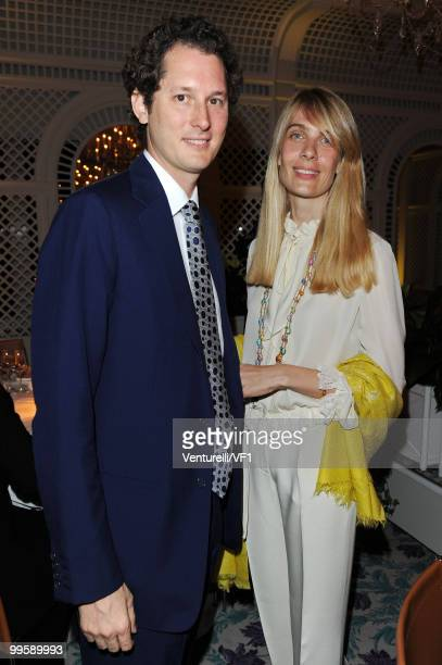 CANNES FRANCE MAY 15 John Elkann and Lavinia Borromeo attends the Vanity Fair and Gucci Party Honoring Martin Scorsese during the 63rd Annual Cannes...