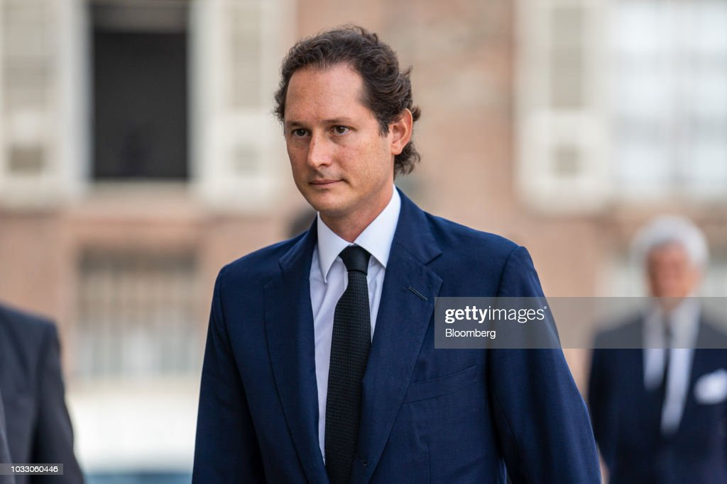 John Elkann, chairman of Fiat Chrysler Automobiles NV, arrives for a memorial service for former Fiat Chrysler Automobiles NV chief executive officer Sergio Marchionne at the cathedral in Turin, Italy, on Friday, Sept. 14, 2018. Marchionne, the architect of the automaker's dramatic turnaround died, aged 66, on Wednesday, July 25, 2018. Photographer: Federico Bernini/Bloomberg via Getty Images
