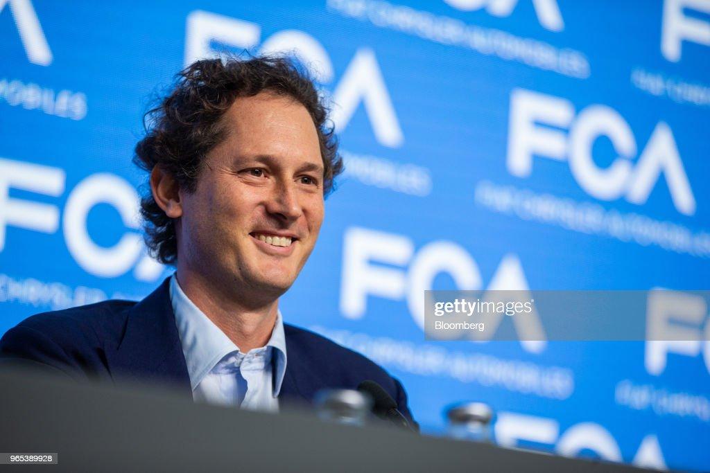 Fiat Chrysler Automobiles NV Chief Executive OfficerSergio MarchionnePresents New Strategic Plan : News Photo