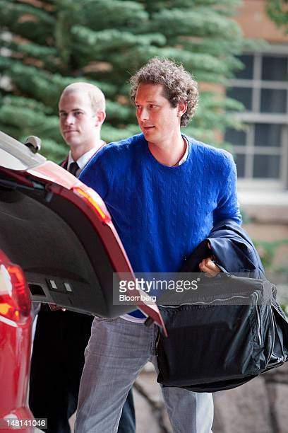 John Elkann chairman of Fiat Spa arrives at the Allen Co Media and Technology Conference in Sun Valley Idaho US on Tuesday July 10 2012 Media...