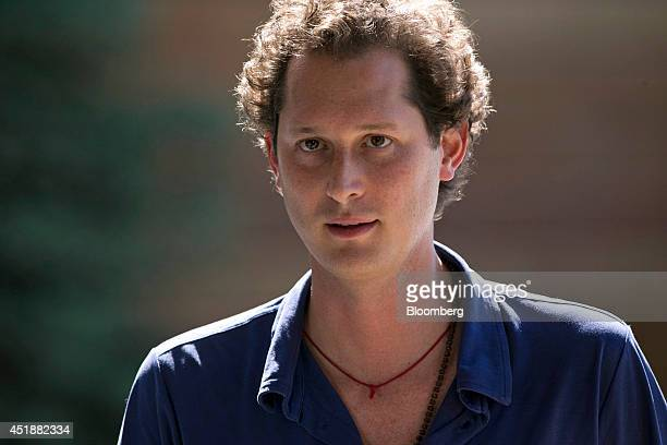 John Elkann chairman of Fiat SpA arrives at the Sun Valley Lodge ahead of the Allen Co Media and Technology Conference in Sun Valley Idaho US on...