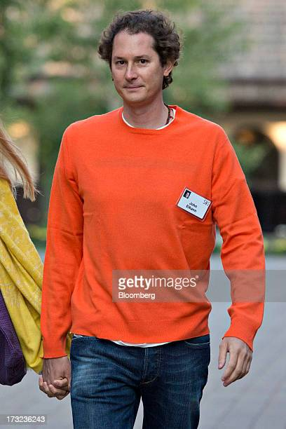John Elkann chairman of Fiat SpA arrives for a morning session during the Allen Co Media and Technology Conference in Sun Valley Idaho US on...