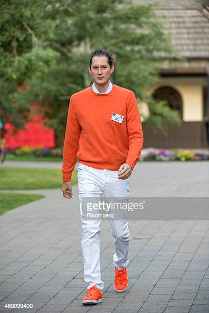 John Elkann chairman of Fiat SpA arrives for a morning session during the Allen Co Media and Technology Conference in Sun Valley Idaho US on Thursday...