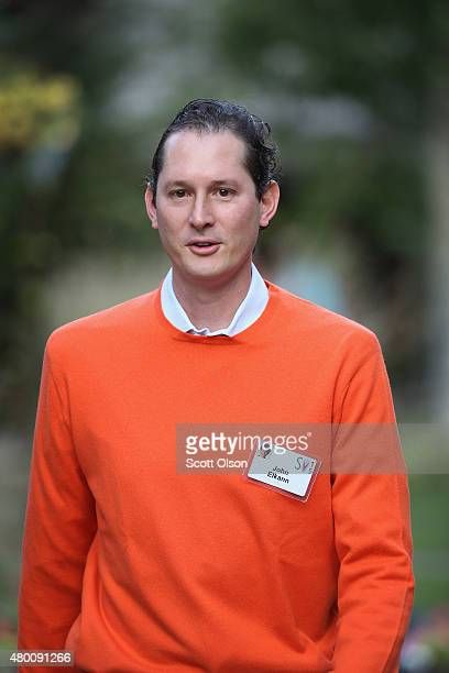John Elkann chairman of Fiat SpA attends the Allen Company Sun Valley Conference on July 9 2015 in Sun Valley Idaho Many of the worlds wealthiest and...