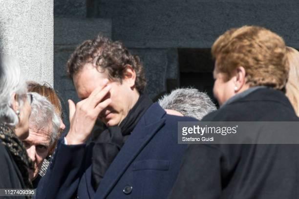 John Elkann cries during the funeral of Marella Agnelli Caracciolo of Castagneto at the Church of San Pietro in Vincoli Marella Agnelli Caracciolo di...
