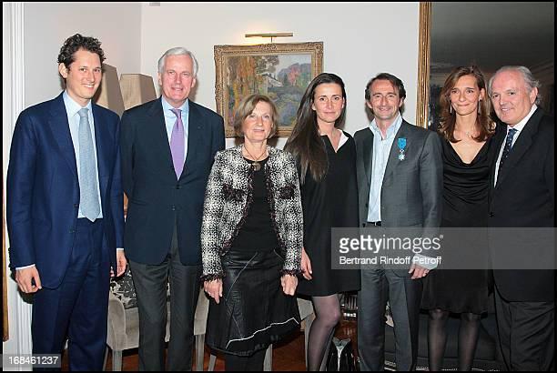 John Elkann Michel Barnier Marie Odile Amaury Caroline Bimes Jean Claude Blanc Christian Bimes and wife Stephanie at Jean Claude Blanc Is Made...
