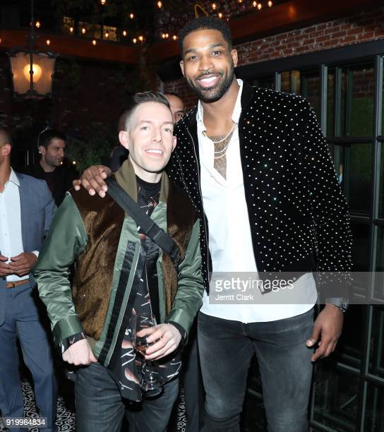 John Elliot and Tristan Thompson attend the Klutch Sports Group More Than A Game Dinner Presented by Remy Martin at Beauty Essex on February 17 2018...