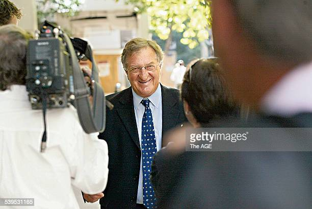 John Elliott arrives for meeting at his controlling trustee Stirling Horne of Bentley MRI office THE AGE NEWS 28th January 2005 Picture by ANDREW DE...