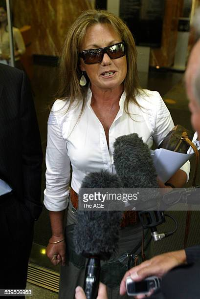 John Elliott's ex wife Amanda after attending the meeting of his controlling trustee Stirling Horne of Bentley MRI office 28TH January 2005 THE AGE...