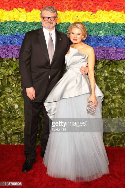 John Ellison Conlee and Celia KeenanBolger attend the 2019 Tony Awards at Radio City Music Hall on June 9 2019 in New York City