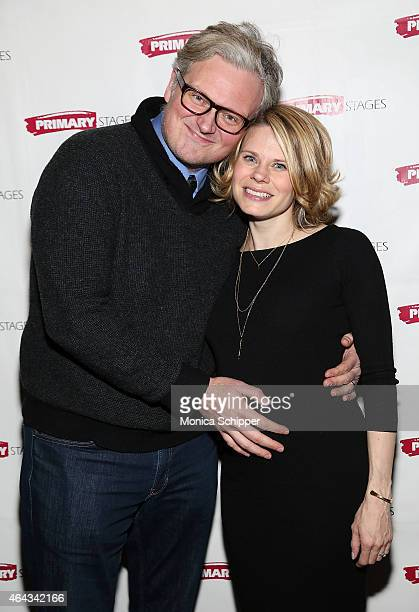 John Ellison Conlee and Celia KeenanBolger attend the Lives Of The Saints Opening Night After Party at Tir Na Nog on February 24 2015 in New York City