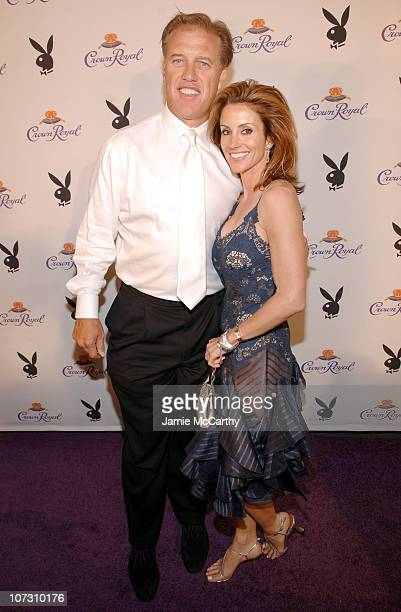 John Elway and Guest during The Crown Royal Playboy Club on Derby Eve Hosted by The 2006 Playboy Playmate of The Year at Felt Nightclub in...