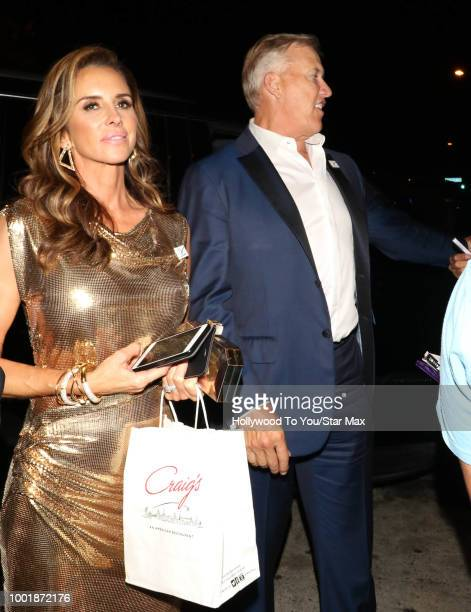 John Elway and Paige Green are seen on July 18 2018 in Los Angeles CA