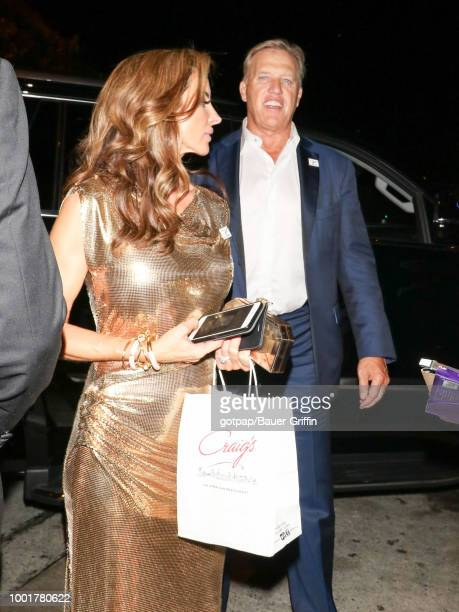 John Elway and Paige Green are seen on July 18 2018 in Los Angeles California