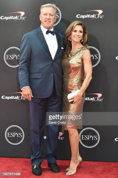 John Elway and Paige Green attend The 2018 ESPYS at Microsoft Theater on July 18 2018 in Los Angeles California