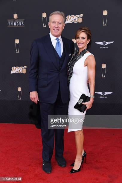John Elway and Paige Green attend the 9th Annual NFL Honors at Adrienne Arsht Center on February 01 2020 in Miami Florida