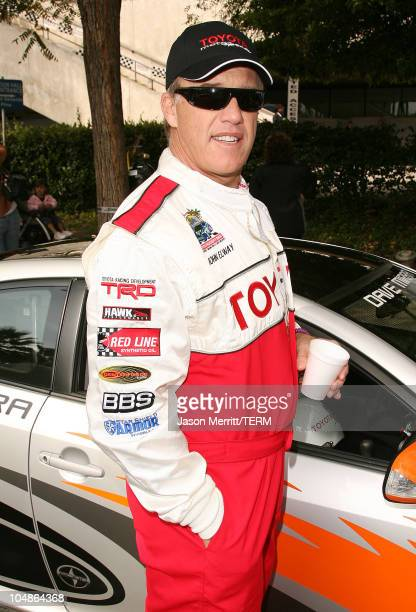 John Elway during 30th Anniversary Toyota Pro/Celebrity Race - Qualifying Day at Streets of Long Beach in Long Beach, California, United States.
