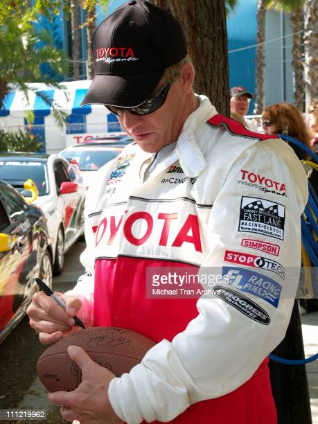 John Elway during Toyota Pro/Celebrity Long Beach Grand Prix Race Celebrity Race Day at Streets of Long Beach in Long Beach California United States