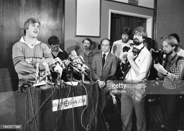 John Elway, Stanford's All America quarterback and the first player picked in the National Football League draft, told a news conference he has...
