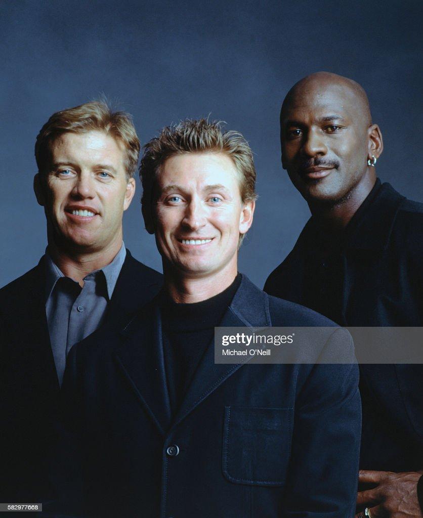 John Elway, Wayne Gretsky and Michael Jordan : ニュース写真