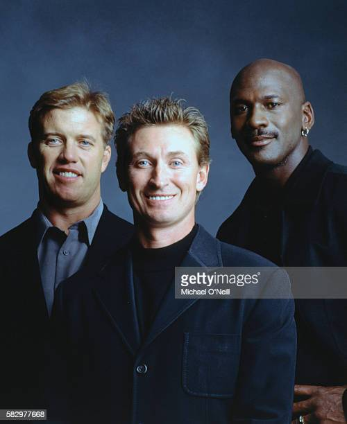 John Elway Wayne Gretsky and Michael Jordan