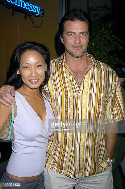 John Enos and girlfriend Jennie Lee during The Opening of Bar 17 in New York City at Bar 17 in New York New York United States