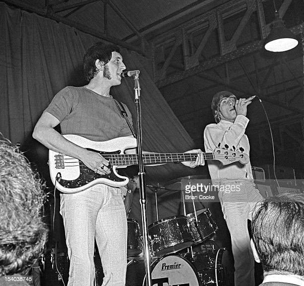 John Entwistle and Roger Daltrey of The Who performs on stage at the Queen's Hall Leeds on 14th October 1966.