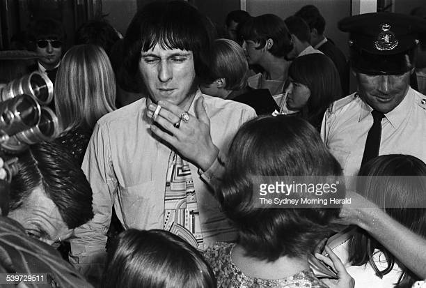 John Entwistle from English rock band The Who is greeted by fans at Sydney's International Airport as the band arrived for their Australian tour 19...