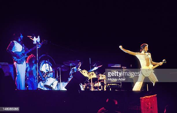 John Entwistle Keith Moon Pete Townshend perform with The Who at The Gator Bowl in Jacksonville FL on August 7 1976
