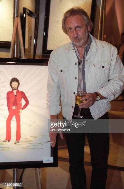 John Entwistle of the rock band The Who poses for a portrait with his artwork at the Argyle Hotel in Los Angeles, California in 1997.