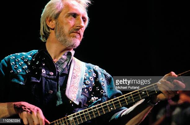 John Entwistle of The Who performs on stage circa 1996 London