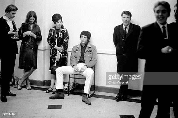 John Entwistle of The Who sits backstage at a concert played without Roger Daltrey at Wimbledon Palais on May 13th 1966 in London