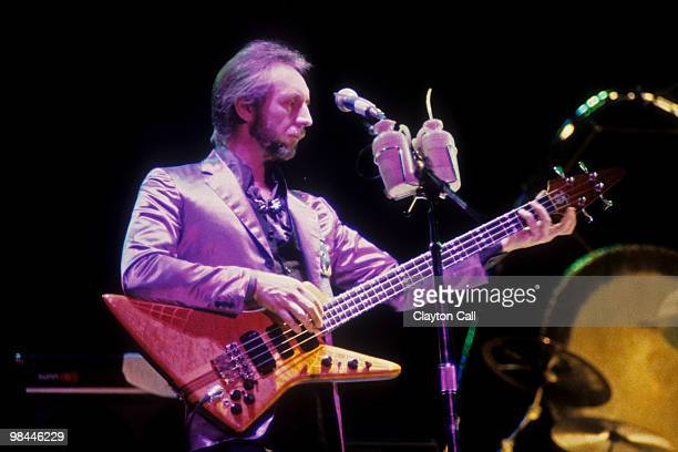 John Entwistle performing with The Who at the Oakland Coliseum on October 25 1982 He plays an Alembic Explorer bass guitar