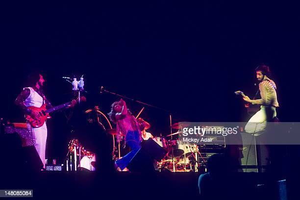 John Entwistle Roger Daltrey and Pete Townshend perform with The Who at The Gator Bowl in Jacksonville FL on August 7 1976