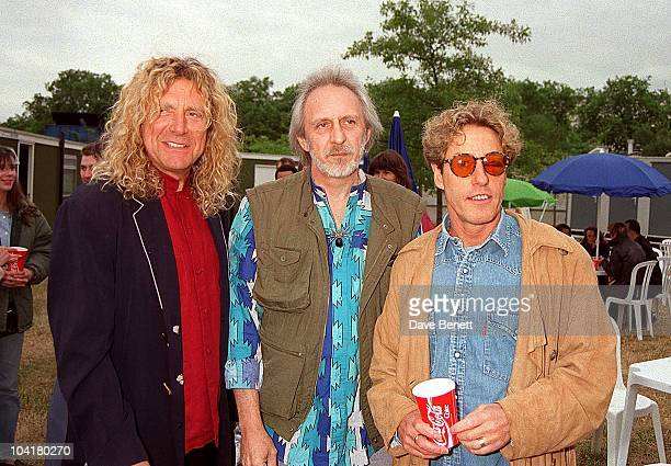 John Entwistle With Robert Plant And Roger Daltrey At The Princes Trust Concert 'The Mastercard Masters Of Music' Held In Hyde Park London