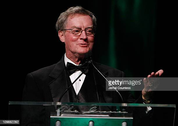 John Ericson on stage during the 33rd Annual American Women In Radio Television Gracie Allen Awards at the Marriott Marquis on May 28 2008 in New...