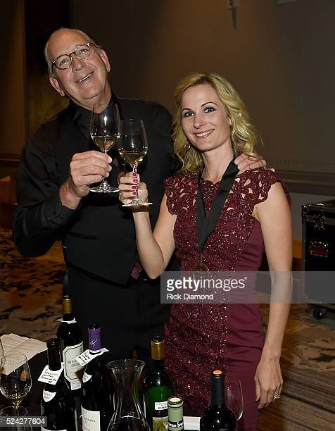 John Esposito and wife Chantel Esposito attend the Nashville Best Cellars Dinner at the Loews Vanderbilt Hotel on April 25 2016 in Nashville Tennessee