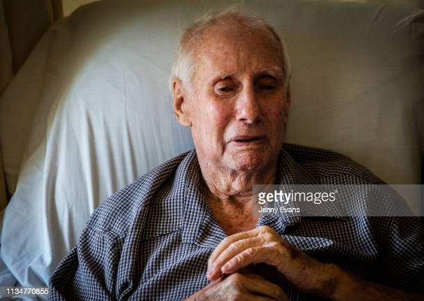 John Evans talks about the Darling-Barka river from his hospital bed on March 06, 2019 in Wilcannia, Australia. Evans states that serious action...