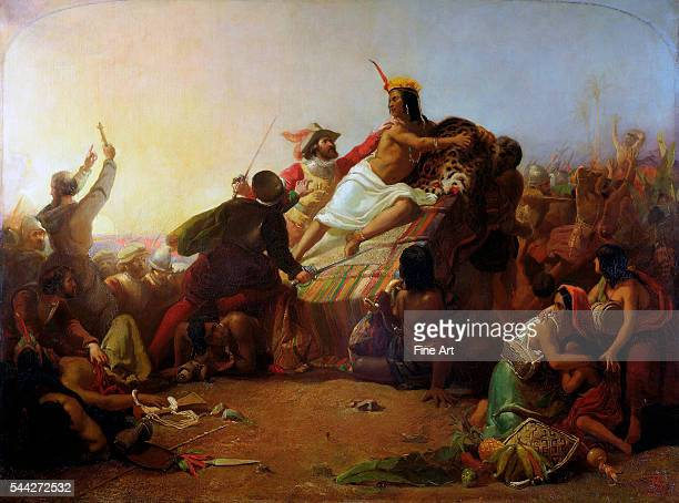 John Everett Millais Francisco Pizarro Seizing the Inca of Peru oil on canvas Victoria and Albert Museum London