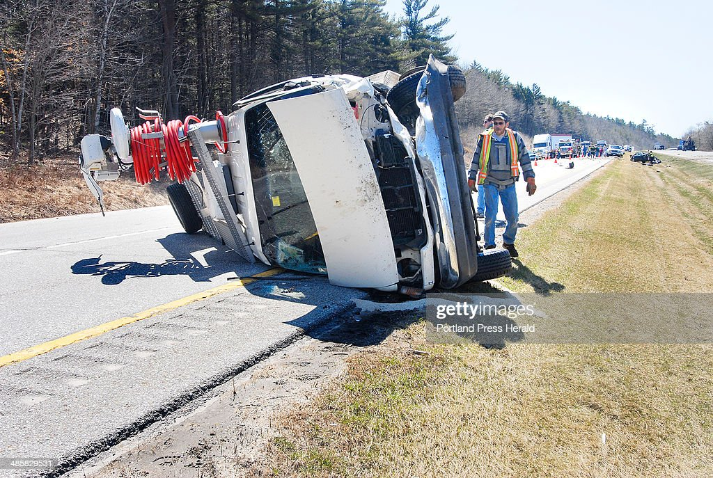 Tuesday, April 15,2008 -- Accident scene on I-495 involving a