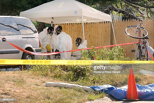 John Ewing/Staff Photographer Tuesday July 15 2008 Scene of a drug bust on a suspected Methamphetamine lab at 2 Shaw Street in Bath on Tuesday...