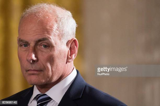 John F Kelly White House Chief of Staff for President Donald Trump was present for he Medal of Honor ceremony for former Specialist Five James C...