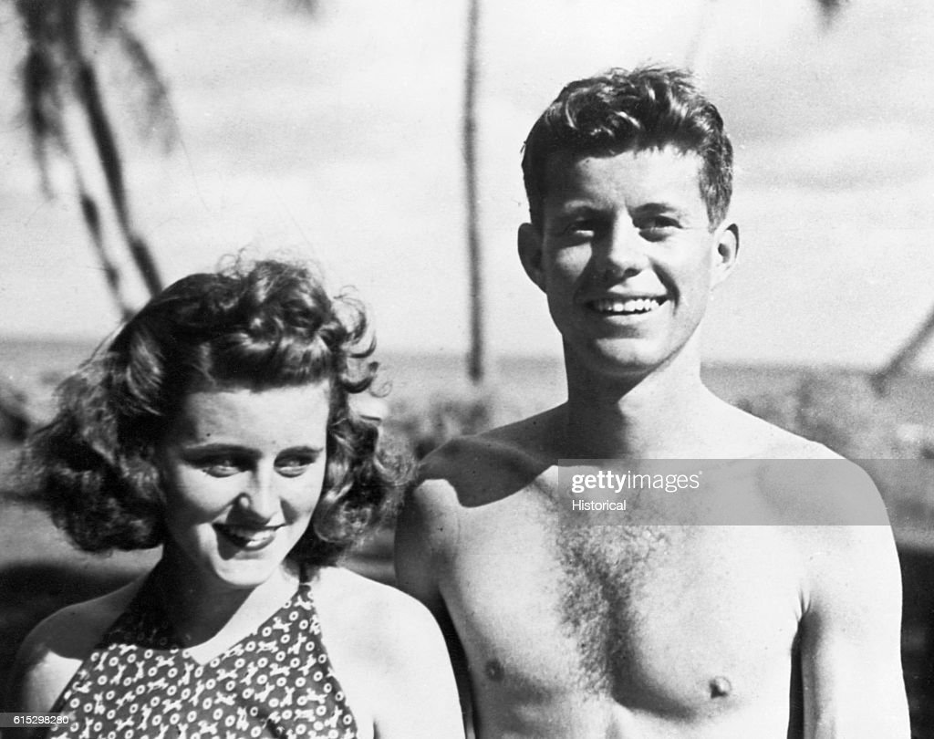 John F. Kennedy and Sister Kathleen : News Photo